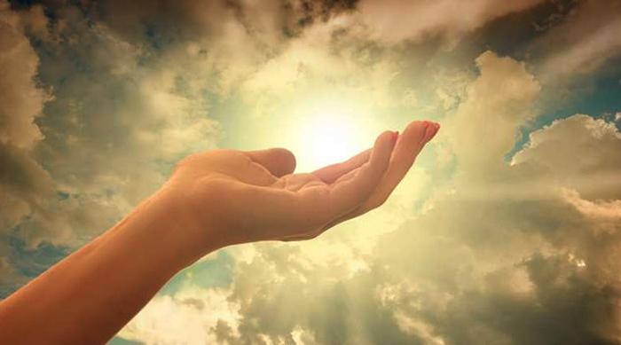 Рука и небо