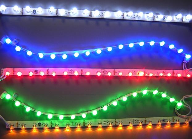 Работающая светодиодная лента
