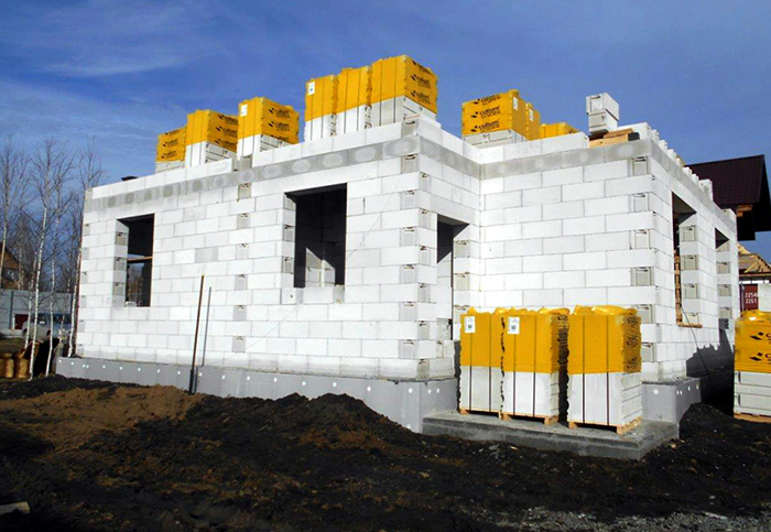 Строительство дома из сибита