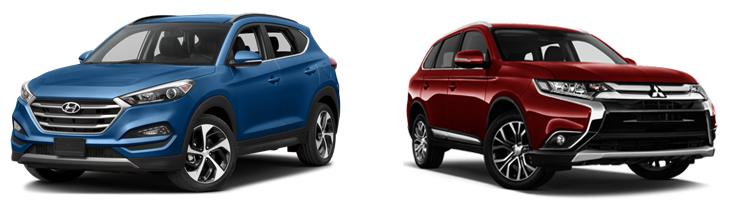Hyundai Tucson и Mitsubishi Outlander