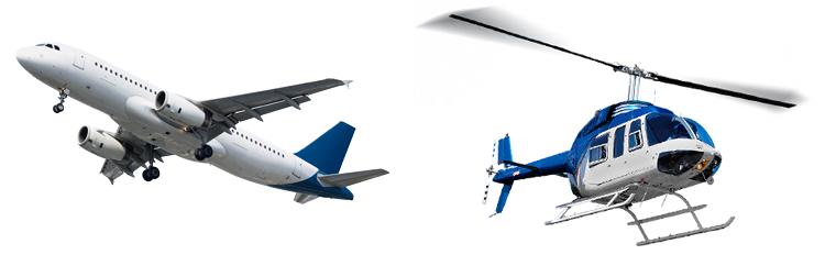 Самолет и вертолет