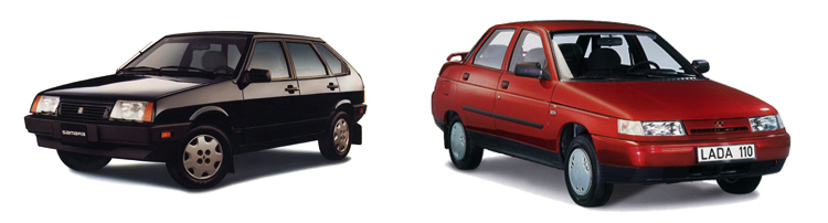 ВАЗ 2109 и ВАЗ 2110