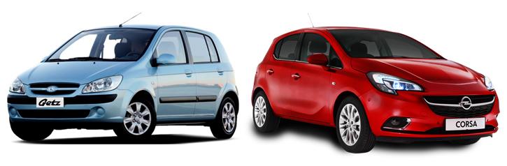 Opel Corsa и Hyundai Getz