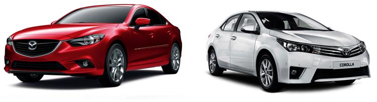 Mazda 6 и Toyota Corolla