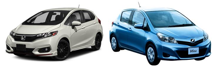 Honda Fit и Toyota Vitz