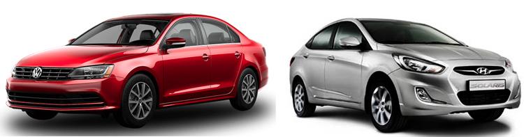 Volkswagen Jetta и Hyundai Solaris