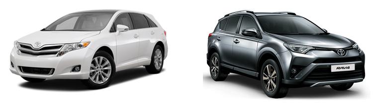 Toyota Venza и Toyota RAV4