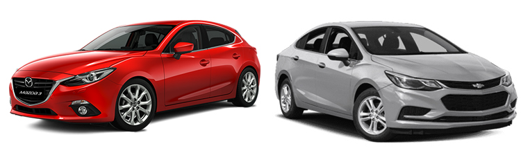 Mazda 3 и Chevrolet Cruze