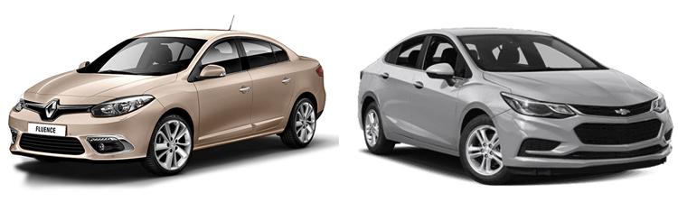 Renault Fluence и Chevrolet Cruze