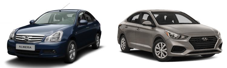 Nissan Almera и Hyundai Accent