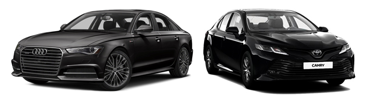 Audi A6 и Toyota Camry