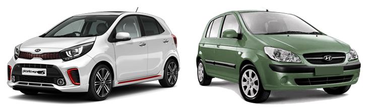 Kia Picanto и Hyundai Getz