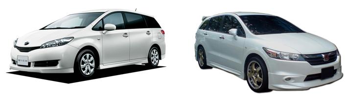 Toyota Wish и Honda Stream