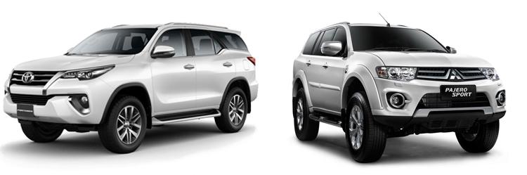 Toyota Fortuner и Mitsubishi Pajero Sport
