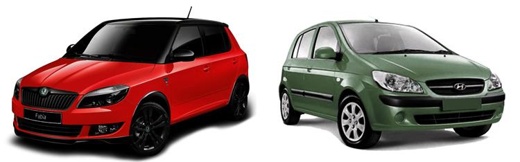Skoda Fabia и Hyundai Getz