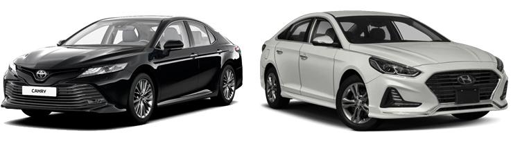 Toyota Camry и Hyundai Sonata