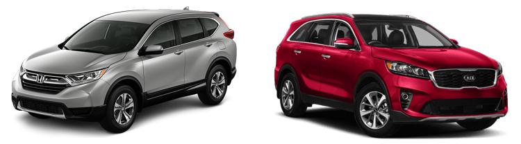 Honda CR-V и Kia Sorento
