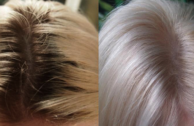 До и после освятления