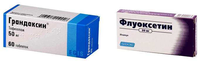 Грандаксин и Флуоксетин