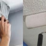 Чем лучше красить потолок кистью или валиком?