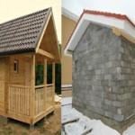 Из чего лучше построить баню из бруса или пеноблока?
