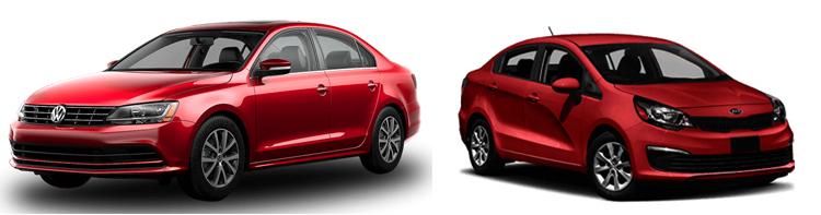Volkswagen Jetta и Kia Rio