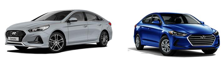 Hyundai Sonata и Hyundai Elantra