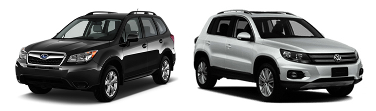 Subaru Forester и Volkswagen Tiguan