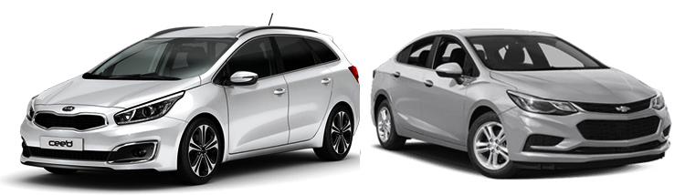 Kia Ceed и Chevrolet Cruze