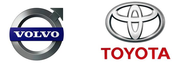 Volvo и Toyota