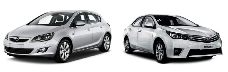 Opel Astra и Toyota Corolla