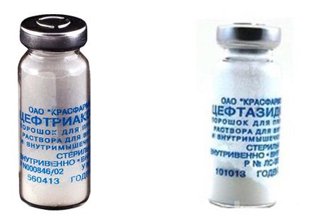 Цефтриаксон и Цефтазидим