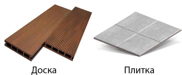 Террасная доска и плитка