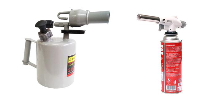 Паяльная лампа и газовая горелка