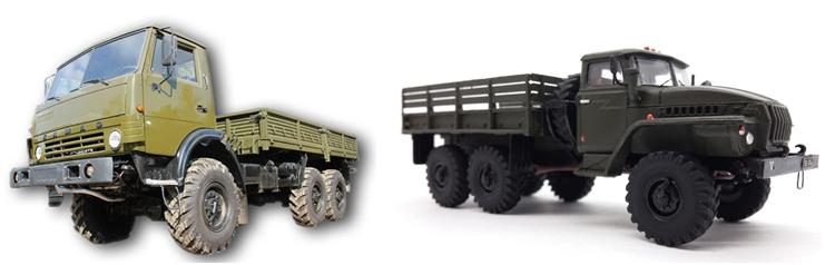 КамАЗ-4310 и Урал-4320