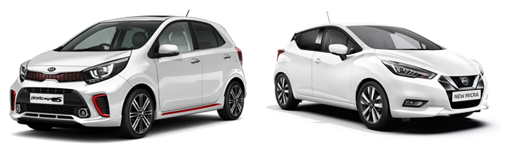 Kia Picanto и Nissan Micra