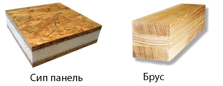 СИП-панель и брус