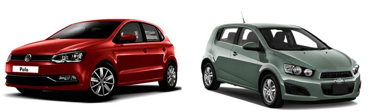 Volkswagen Polo и Chevrolet Aveo
