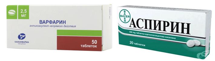 Варфарин и Аспирин