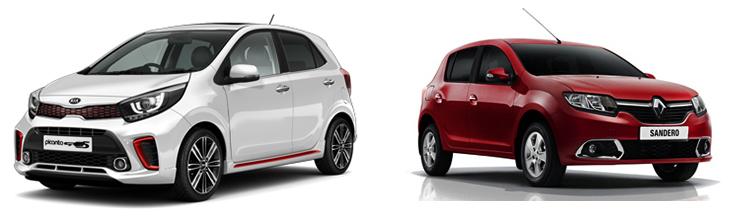 Kia Picanto и Renault Sandero