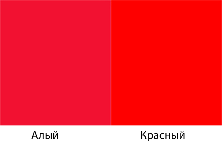 Алый и красный цвета