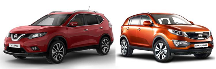 Nissan X-Trail и Kia Sportage