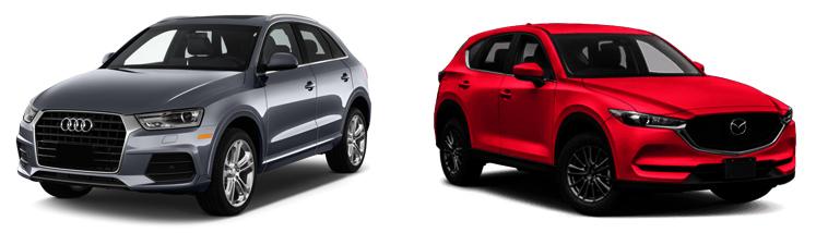 Audi Q3 и Mazda CX-5