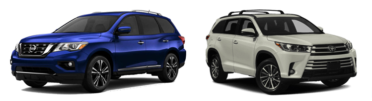 Nissan Pathfinder и Toyota Highlander