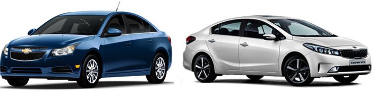 Chevrolet Cruze и Kia Cerato