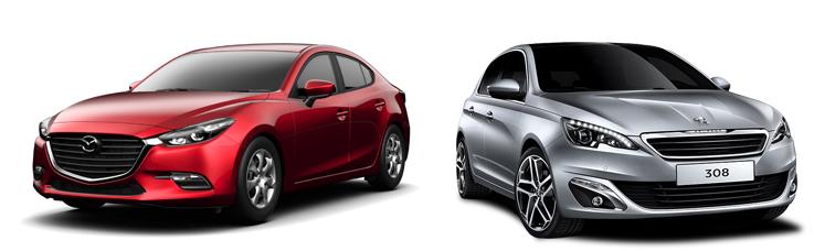 Mazda 3 и Peugeot 308