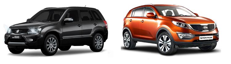 Suzuki Grand Vitara и Kia Sportage