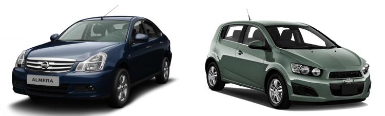 Nissan Almera и Chevrolet Aveo