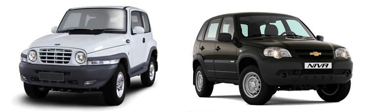 TagAZ Tager и Chevrolet Niva