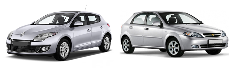 Renault Megane и Chevrolet Lacetti